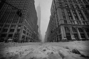 Empire State Building @ 2016 NYC Storm Arpi Pap Studio Images.