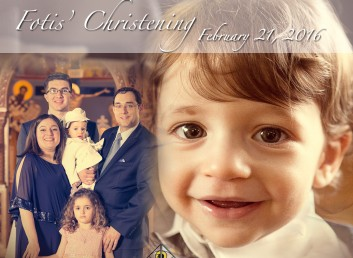A New Servant of God. Fotis is Baptized.