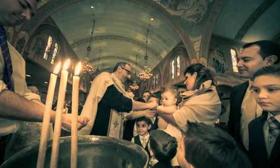 Kyriaki's Christening.  The Beauty of Light and Family at Saint Paul Greek Church in Hempstead, NY.
