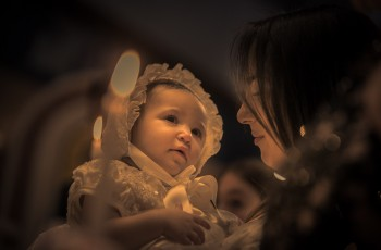 Zoe Sophia's Christening.  Return to Innocence at Saint Nicholas, Flushing, New York.