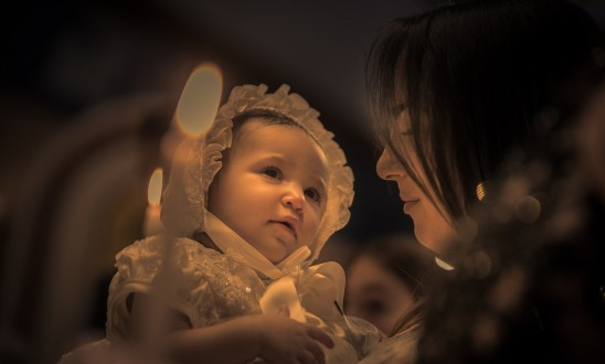 Zoe Sophia's Christening.  Return to Innocence at Saint Nicholas, Flushing, New York.