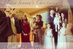Baby Eliana's Baptism. St Athanasios Greek Orthodox Church, Paramus, NJ