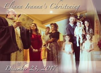 Baby Eliana's Baptism. St Athanasios Greek Orthodox Church, Paramus, NJ