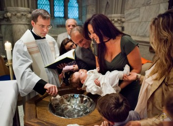 Baptism at Saint Patrick's Cathedral. New York City