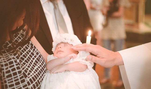Baptism at  the Church of St Paul The Apostle NYC. 59th St Columbus Circle, Central Park Christening