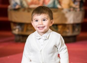 Baptism at St Lucy's Roman Catholic Church. Newark New Jersey.