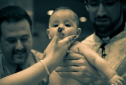 Baptism at St Paul , HempStead, New York. Baby Joanna.